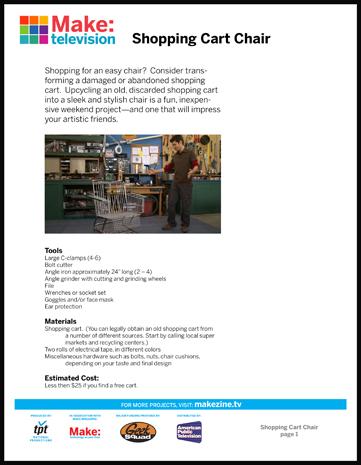 Maker Workshop PDF – Shopping Cart Chair