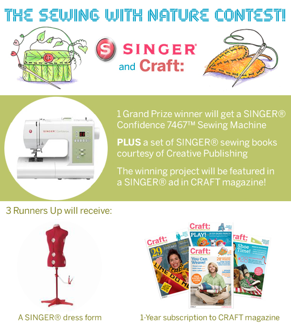 SINGER®'s Sewing with Nature Contest Kicks Off TODAY!