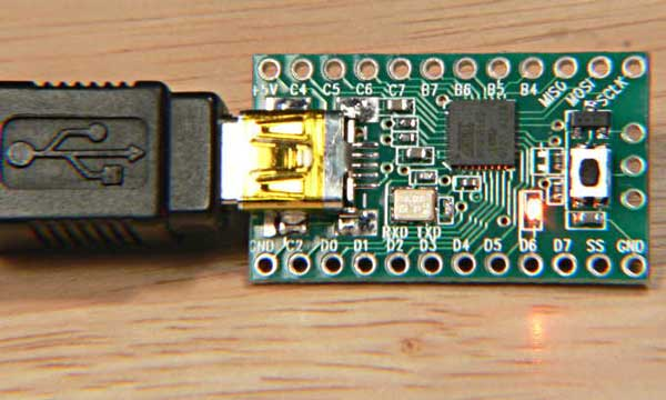 Teensy, a USB development board with Arduino support