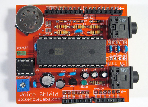 Voice record/playback shield for Arduino