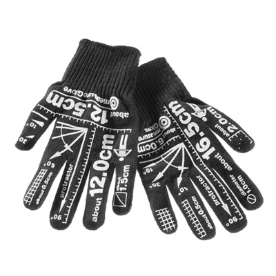 Work gloves – Gloves with measurements