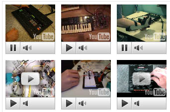YouTube as musical instruments