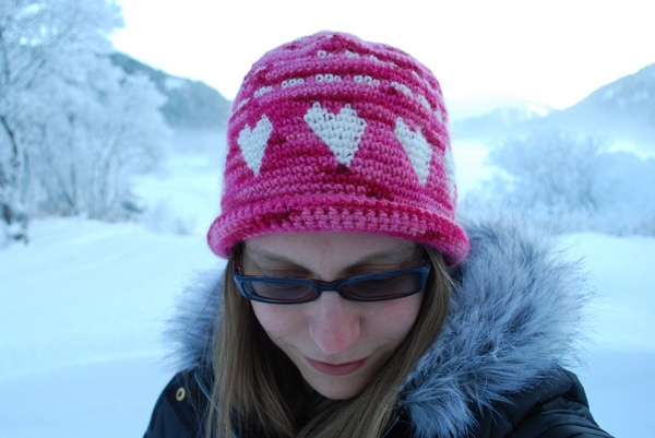 Happy Valentine's Day Crochet Hat Pattern