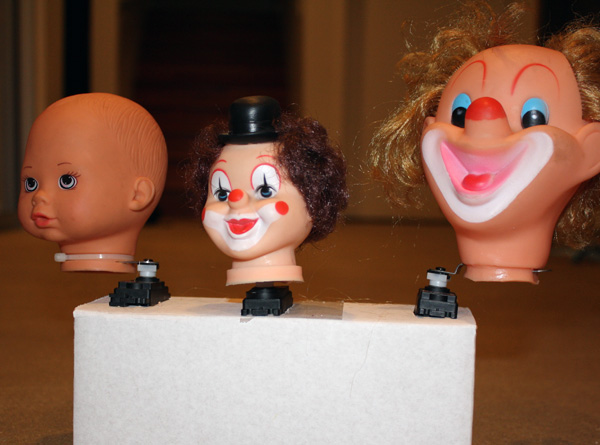 Twitchie clown heads on Attack of the Show!
