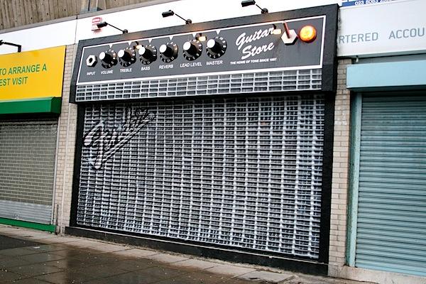 Guitar amp storefront