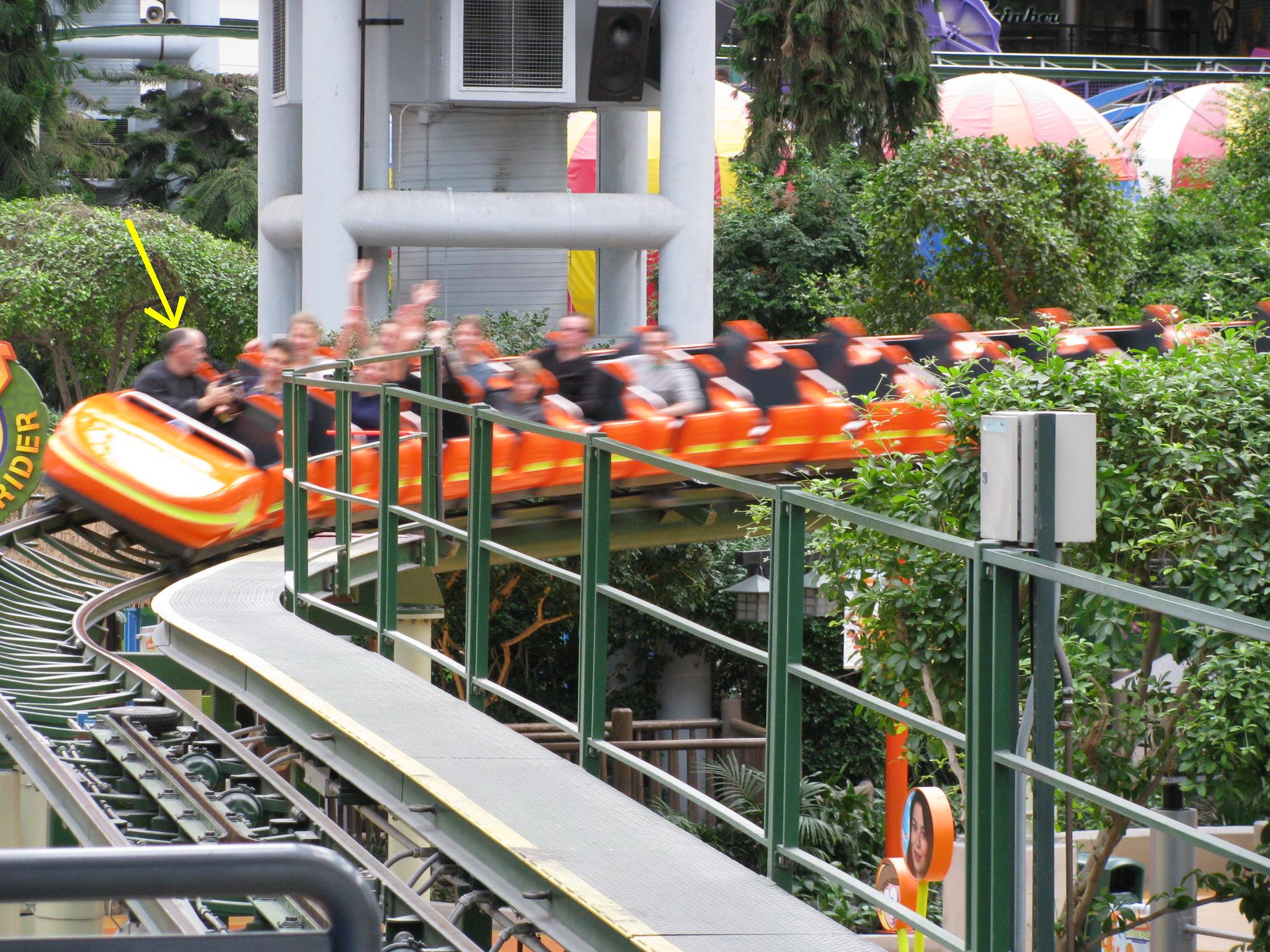 Ever filmed video on a rollercoaster?