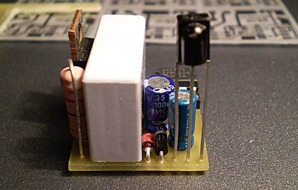 Compact light dimmer with IR control