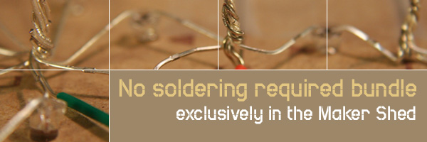 In the Maker Shed: No soldering required bundle