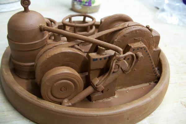Tim See's steampunky ceramic art
