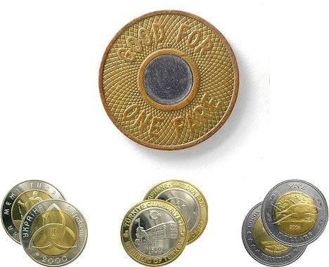 How bi-metallic coins are made