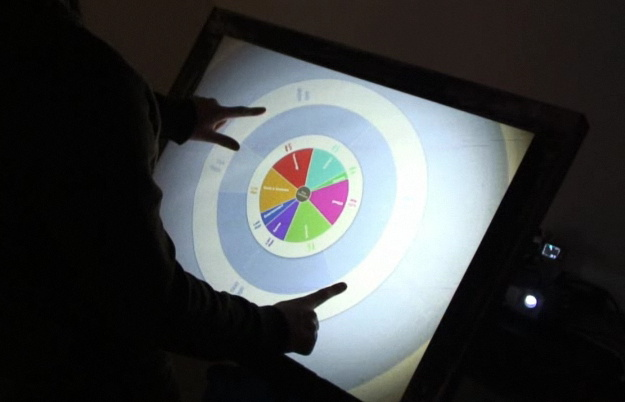 Multi-touch Surface Table at Make: Day