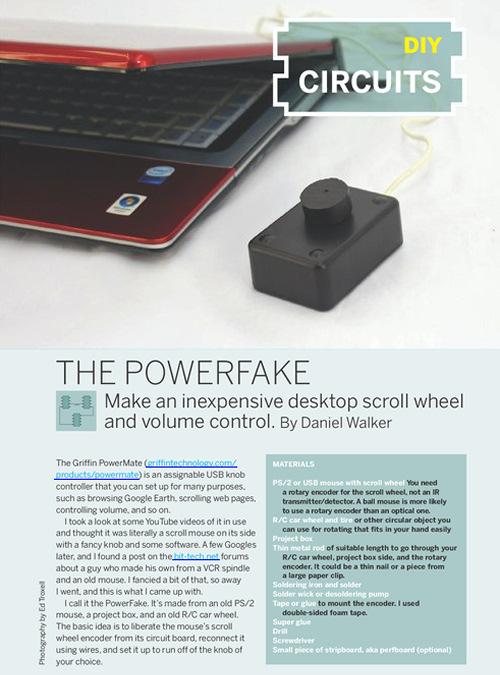 Weekend Project: The Powerfake (PDF)