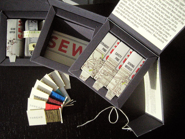 Men's Sewing Kit and a Kit to Thwart Writers Block