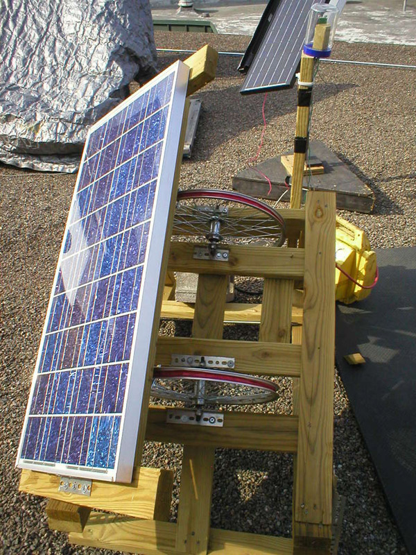 DIY sun tracker for solar panels