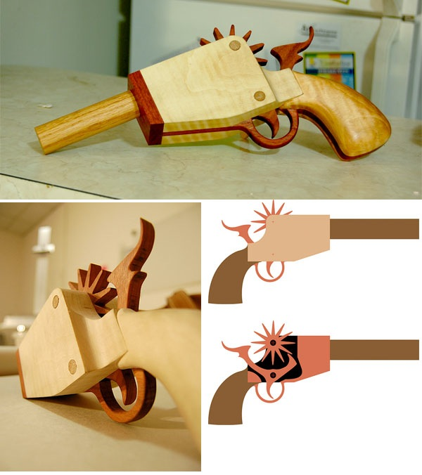Rubberband-handgun fit for a holster