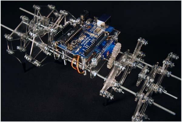 Theo Jansen-inspired Arduino walker