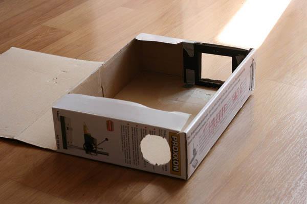 Cardboard box slide duplicator