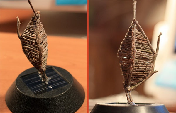 Solar sculpture provides a mini sunset