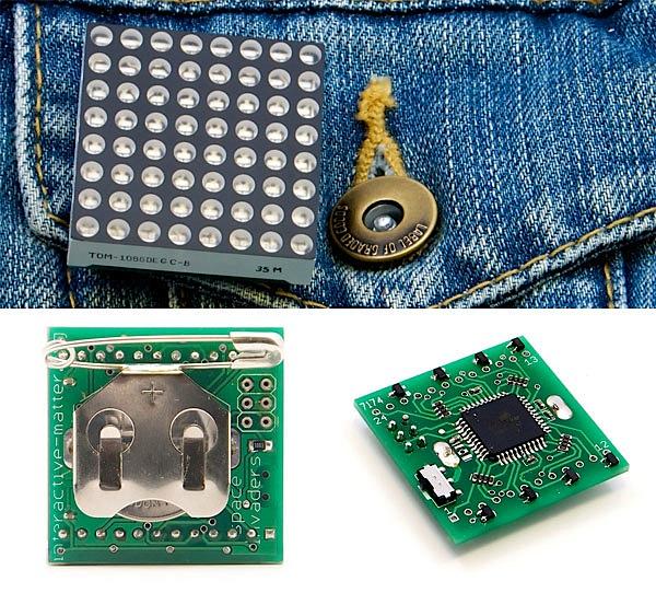 Compact LED matrix wearable