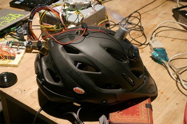 DIY bike helmet fan