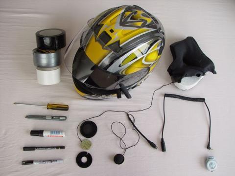 Bluetoothing a motorcycle helmet