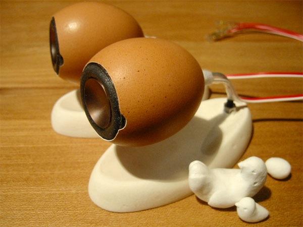 Eggshell speakers