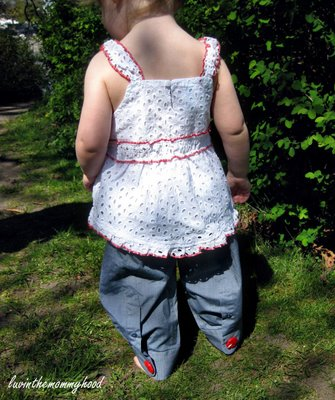 Men's Shirt Sleeves Refashioned to Toddler Pants