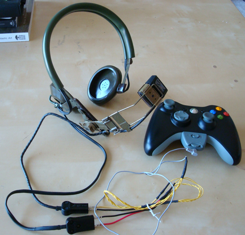 Antique military headset for gaming