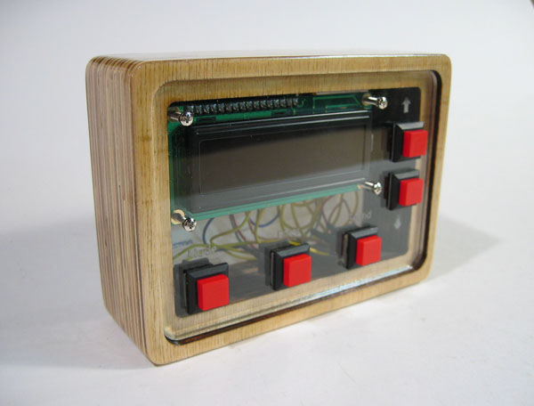 Laser-cut LCD stand