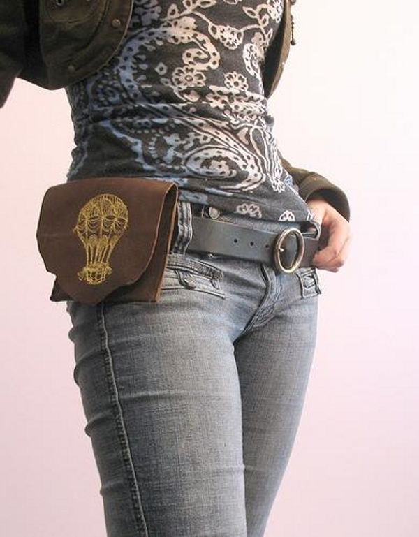 Leather hip pouch from Urban Threads