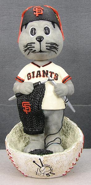 SF Giants Stitch N' PItch: Lou Seal Knitting Bobblehead