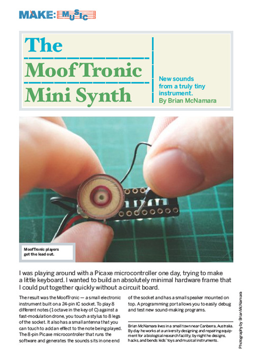 Weekend Project: Mooftronic Mini Synth (PDF)