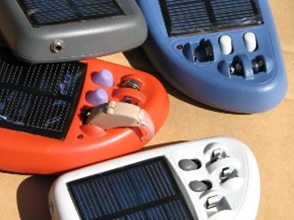 Solar powered hearing aid