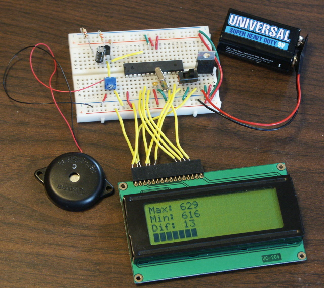 Piezo sound meter