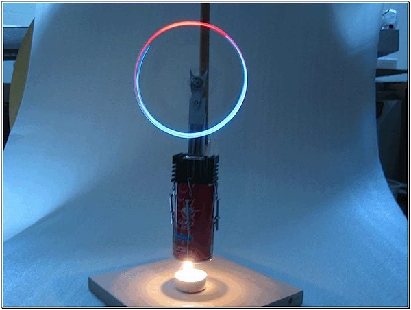 How-To: Stirling engine rotates LEDs