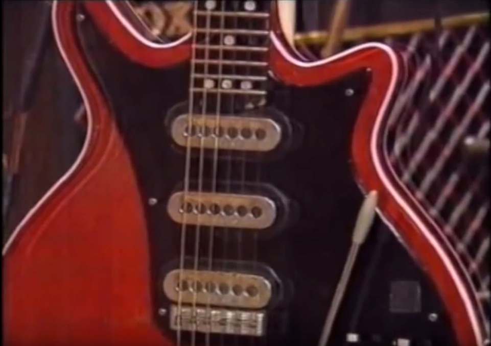 Queen's Brian May and His Homemade Guitar