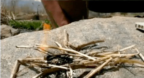 How-To: Start a fire with your cellphone