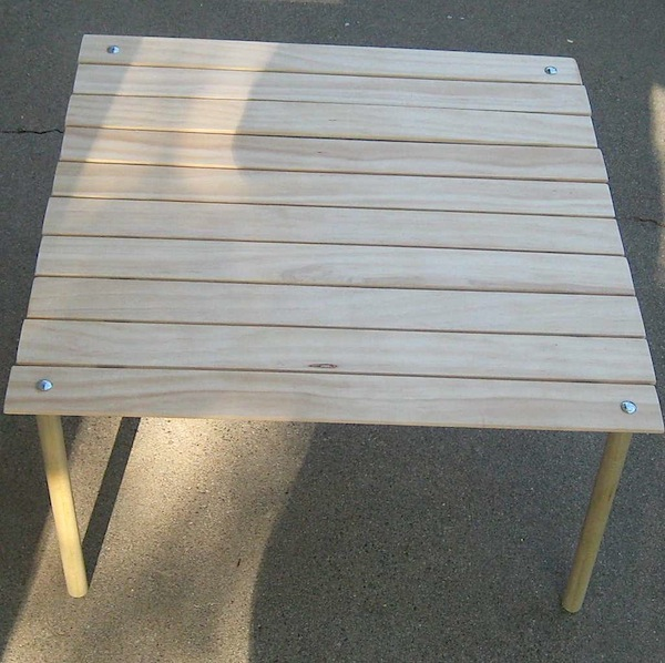 How-To: Collapsible table for picnics