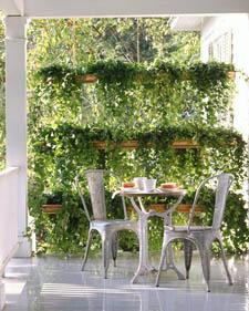 Hanging gutter gardens