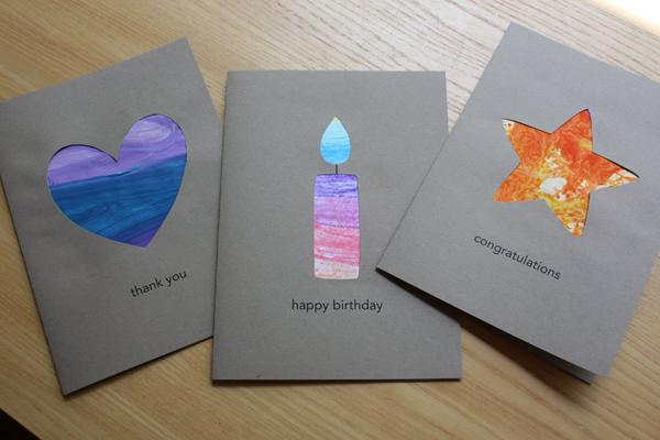Repurposed Kids' Art Cards