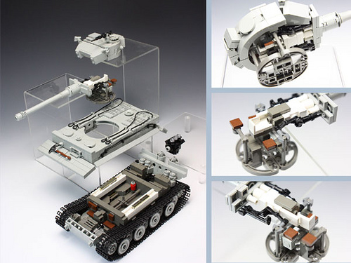 LEGO tank has full interior detailing