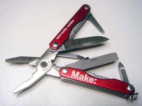 In the Maker Shed: MAKE: Warranty Voider – Leatherman