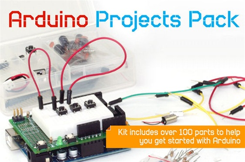 In the Maker Shed: Arduino Projects Pack