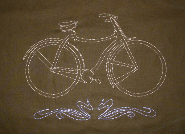Embroidered safety bike