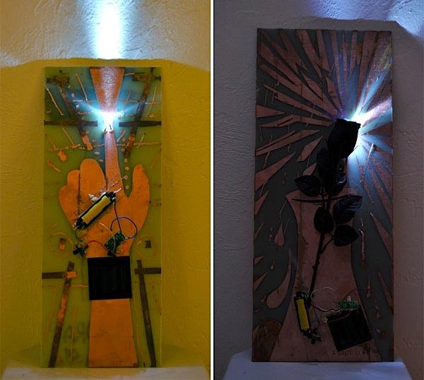 Solar night light circuit art