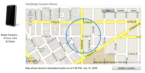 Unofficial Find My iPhone API