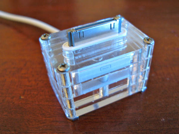 Quick 'n dirty lasercut iPhone stand