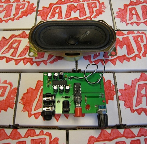 In the Maker Shed:  Box amplifier kit