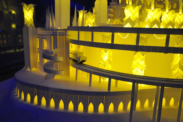Breathtaking papercraft castle