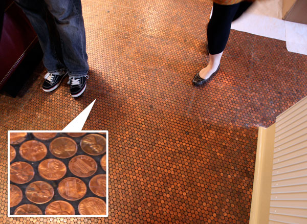 Pennies per square foot, literally